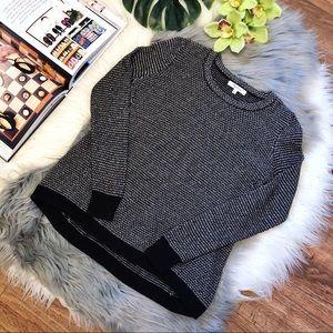Madewell Black Riverside Dotweave Pullover Sweater